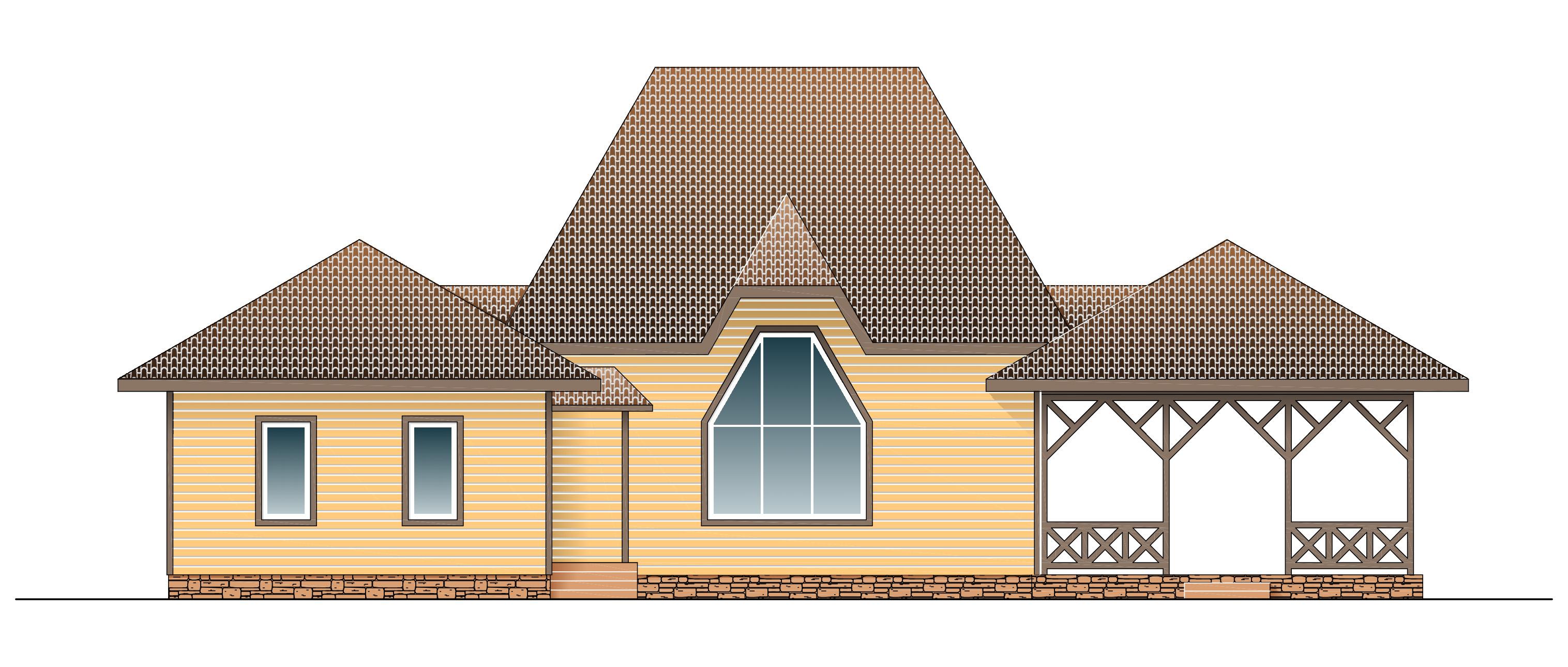 Каркасный дом КД-140