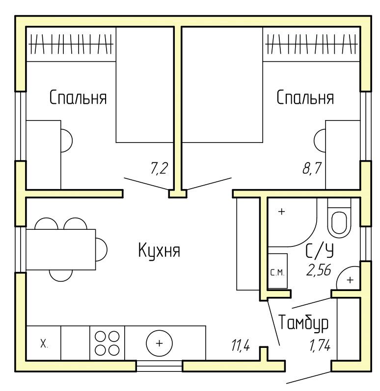 Каркасный дом КД-30