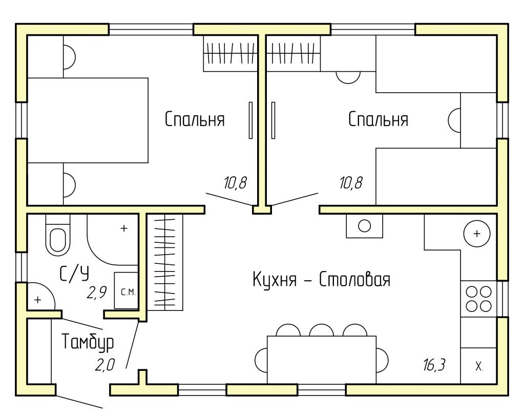 Каркасный дом КД-40